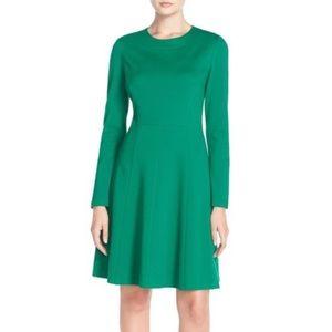 Eliza J Long Sleeve Ponte Fit & Flare Dress